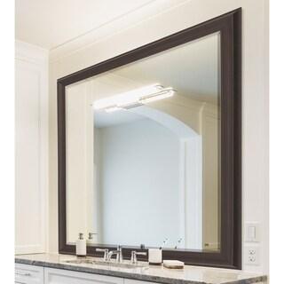 Espresso Walnut Framed Wall Mirror