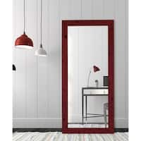 Hitchcock Butterfield Auburn Ridge Vintage Barnwood Large Red Mirror