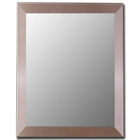 Hitchcock Butterfield Europa Contempo Large Nickel Silver Modern Mirror