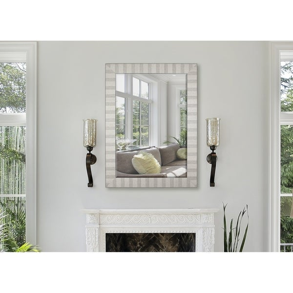 Hitchcock Butterfield Artifacto Large Nickel Silver Transitional Mirror