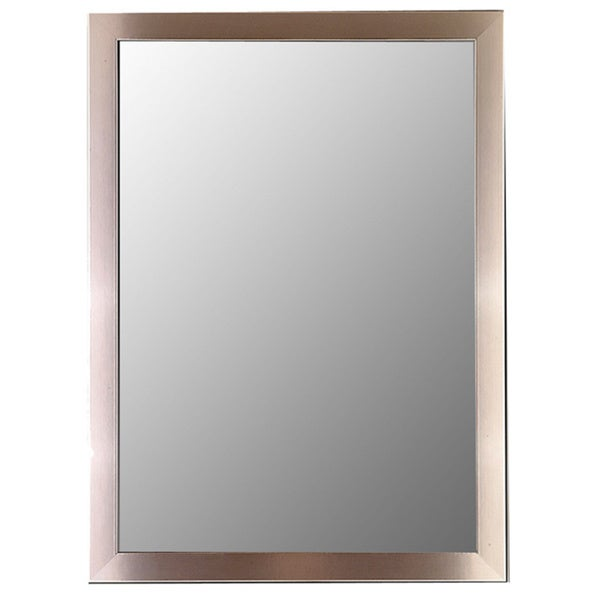 Stainless Framed Wall Mirror Silvertone