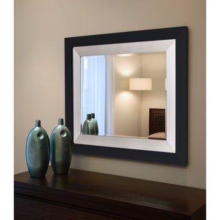 Black / Silver Framed Wall Mirror