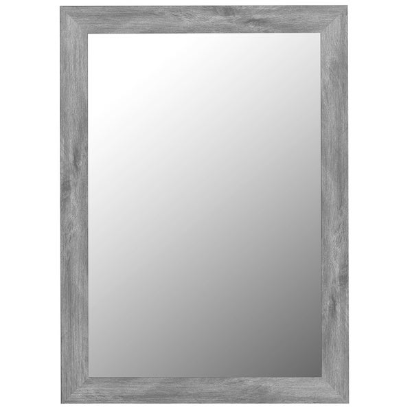 Framed Wall Mirrors antique weathered grey framed wall mirror - free shipping today