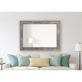 Antique Weathered Grey Framed Wall Mirror