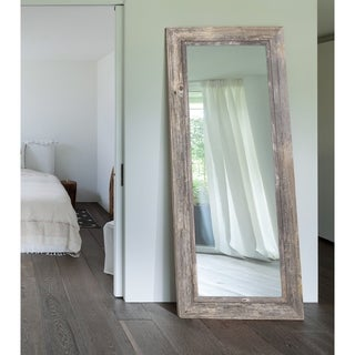 Antique Weathered Grey / Grey Liner Framed Wall Mirror