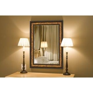 Antique Italo Copper Framed Wall Mirror