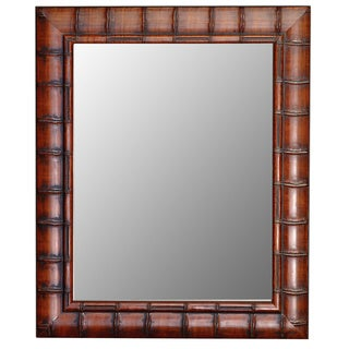 Fruitwood Bamboo Framed Wall Mirror