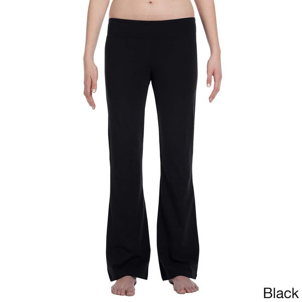 Women's Cotton/ Spandex Blend Fitness Pants. Opens flyout.