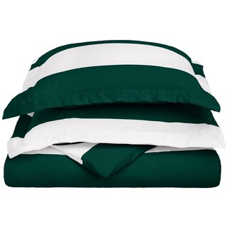 Superior Cabana Striped 600 Thread Count 3-piece Duvet Cover Set (3 options available)