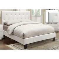 Clay Alder Home University Faux Leather Rhinestone Tufted Platform Bed