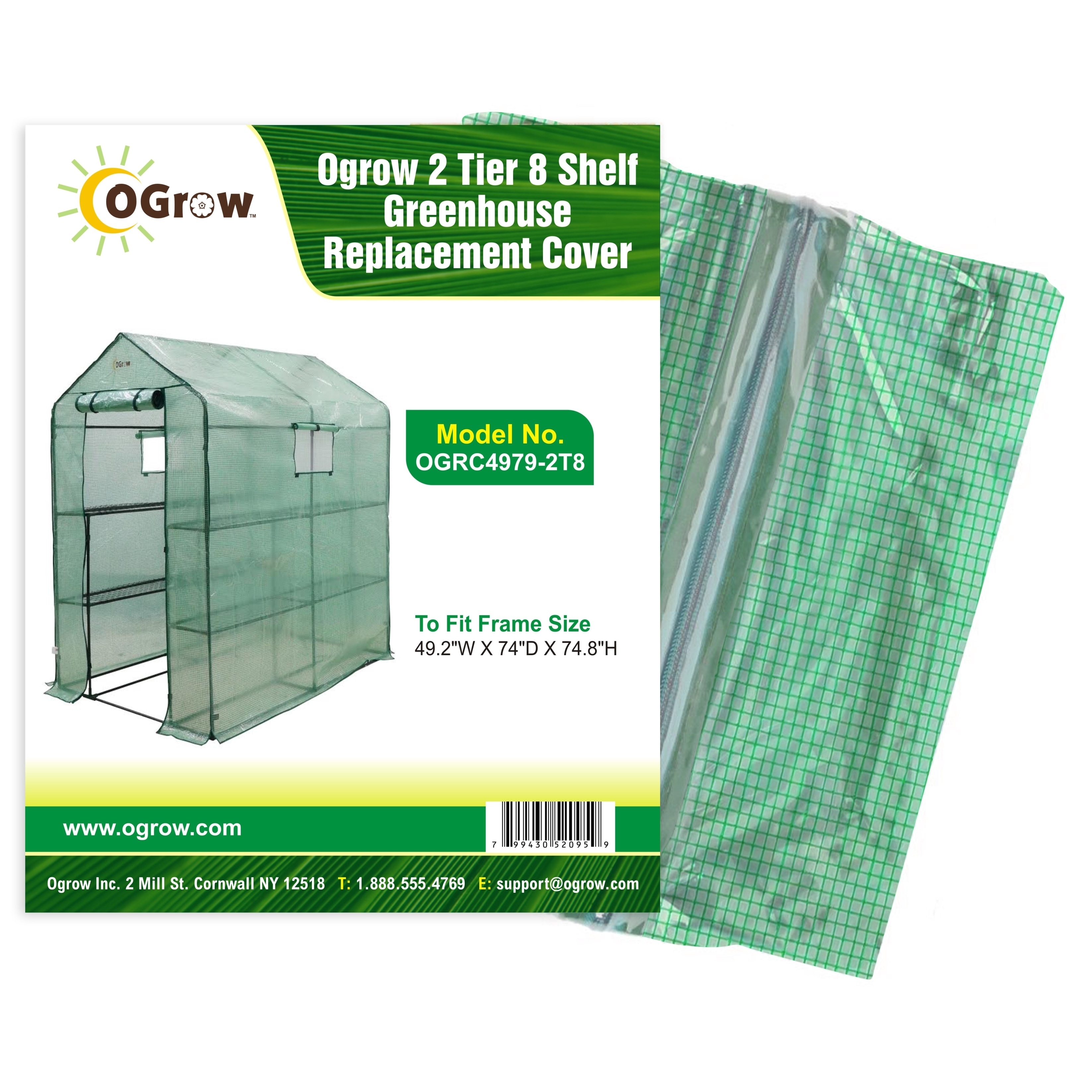 Selections 3 Tier Mini Greenhouse Re-inforced Replacement Cover