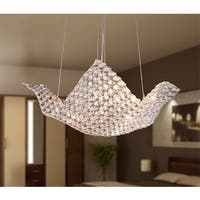 Rapunzel Chrome and Crystal 5-light Basket Chandelier