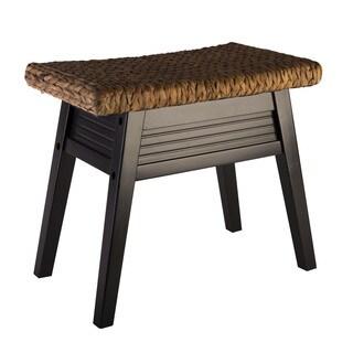Douglas Rushed Bench by Elegant Home Fashions