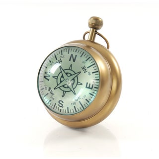 Brass Vintage Style Clock Paper Weight