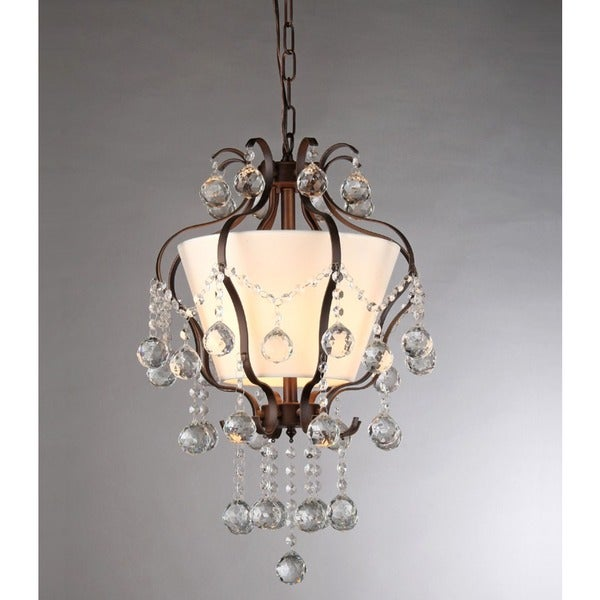 Stacey Crystal 3-light Bronze Chandelier