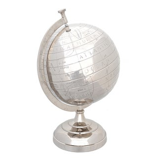 13-inch Decorative Aluminum Globe and Display Stand