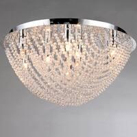 Round Loran Crystal Flush-mount 9-light Fixture