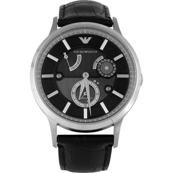 Emporio Armani Mens' AR4664 Meccanico Leather Automatic W...