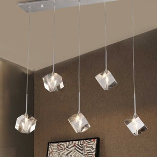 Firefly Floating Crystal 5-light Dangling Pendant