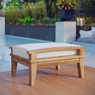 Pier Outdoor Patio Teak Ottoman