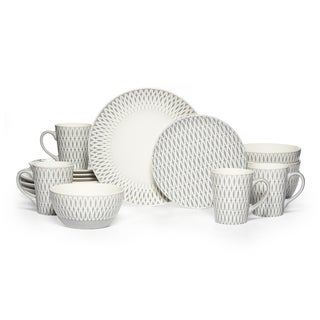 Mikasa Gourmet Basics u0027Aurorau0027 Grey Stoneware 16-piece Dinnerware Set (Service for  sc 1 st  Overstock & Dinnerware | Find Great Kitchen u0026 Dining Deals Shopping at Overstock.com