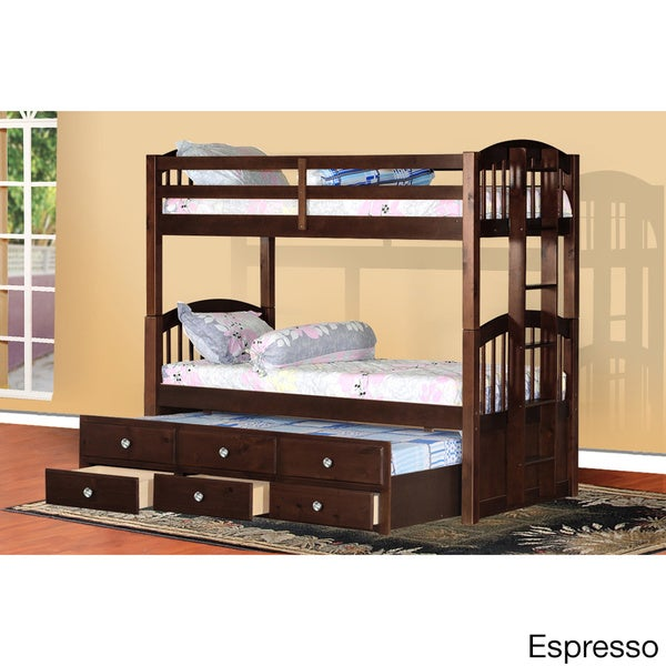 Shop Pine Wood Bunkbed Rails And Slats Free Shipping Today