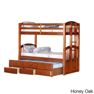 Tri Level Bunkbed Trundle With Storage Drawers