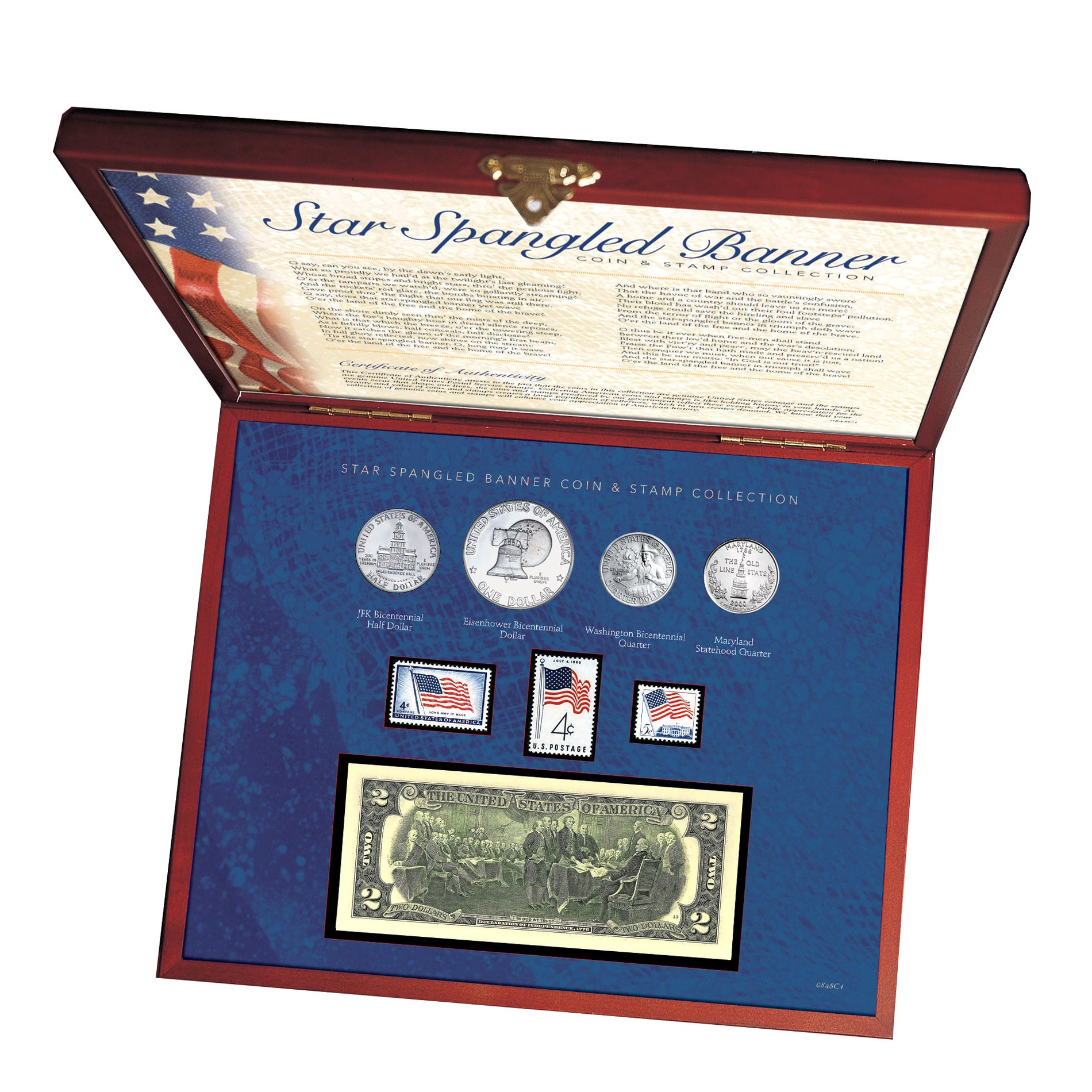 American Coin Treasures Star Spangled Coin and Stamp Box ...