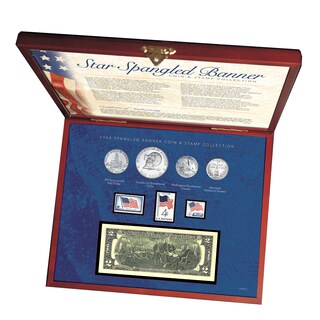 American Coin Treasures Star Spangled Coin and Stamp Box Set
