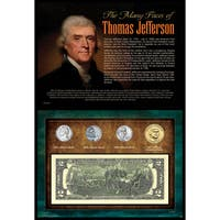 Many Faces of Thomas Jefferson Coin and Currency Collection