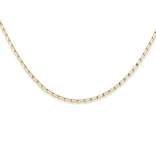 "10k Yellow Gold Elongated 1.9mm Curb-Link Necklace 18"" Tailored"