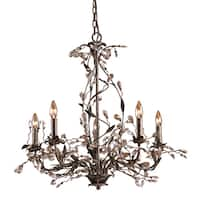 Elk Lighting 'Circeo' Deep Rust Crystal Droplets 5-light Chandelier