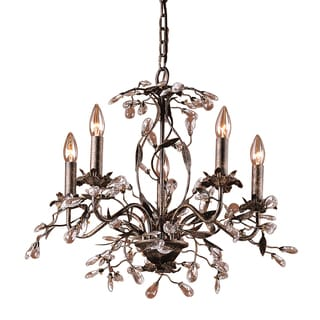 Elk Lighting 'Circeo' Deep Rust 5-light Chandelier