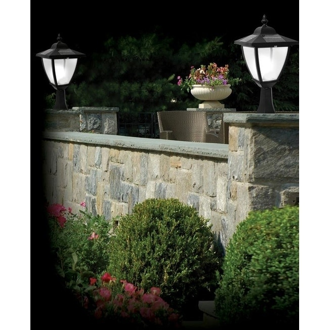 MFG Elegante Black Aluminum Solar Lamp (Black)