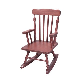 Child-size Cherry Veneer Spindle Rocking Chair