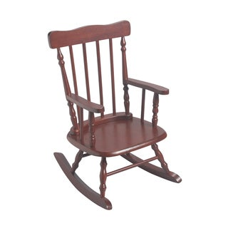 Gift Mark Home Kids Cherry-finish Rocking Chair