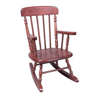 Gift Mark Deluxe Child's Cherry Finish Spindle Rocking Chair
