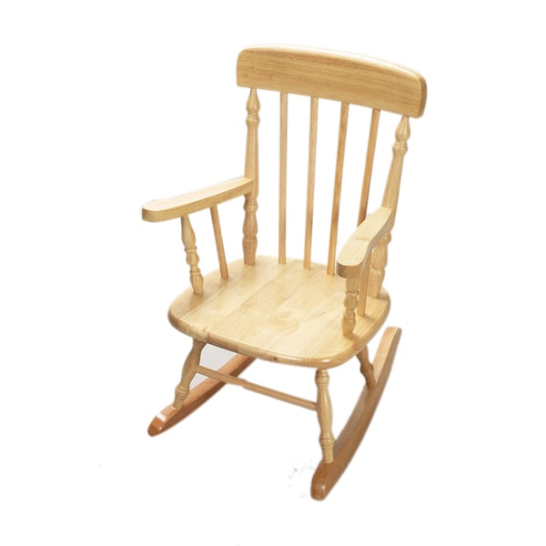 Gift Mark Home Deluxe Child Size Natural Spindle Rocking Chair