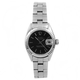 Pre-owned Rolex Women's Datejust Stainless Steel Oyster Automatic Watch