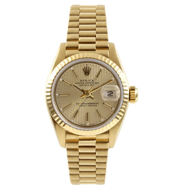 Pre-Owned Rolex Women's President Yellow Gold Automatic Watch. Opens flyout.
