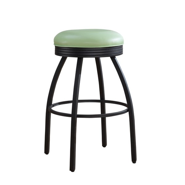 Shop Sadie 26 Inch Counter Height Metal Stool In Green
