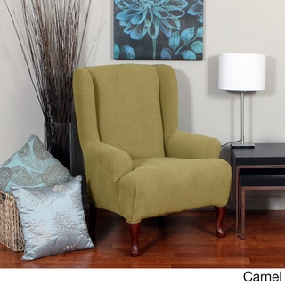 Montgomery One-piece Stretch Wing Chair Slipcover