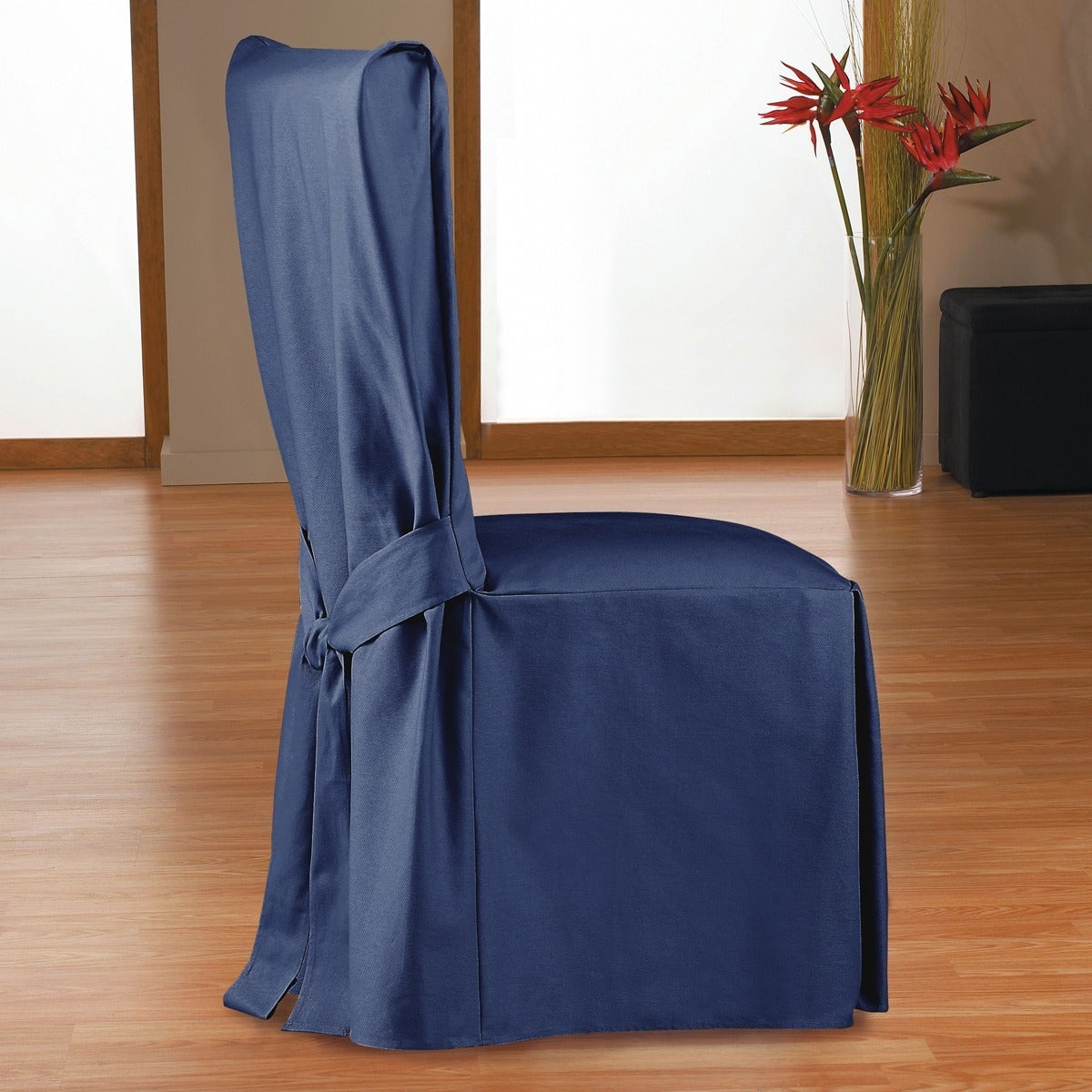QuickCover Duck Long Relaxed Fit Dining Chair Slipcover w...