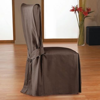 QuickCover Duck Long Relaxed Fit Dining Chair Slipcover with Ties