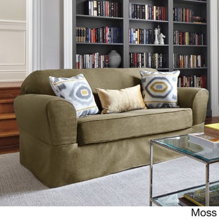 Bayside Two-piece Relaxed Fit Wrap Loveseat Slipcover