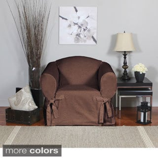 Bruce One-piece Relaxed Fit Chair Slipcover with Ties