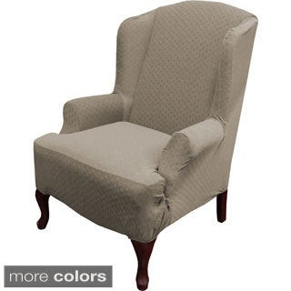 QuickCover Piccadilly One-piece Stretch Wing Chair Slipcover