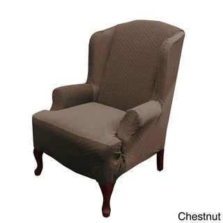 Piccadilly One-piece Stretch Wing Chair Slipcover