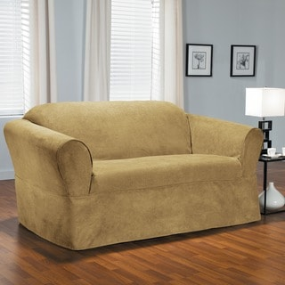 Bruce One-piece Relaxed Fit Wrap Loveseat Slipcover