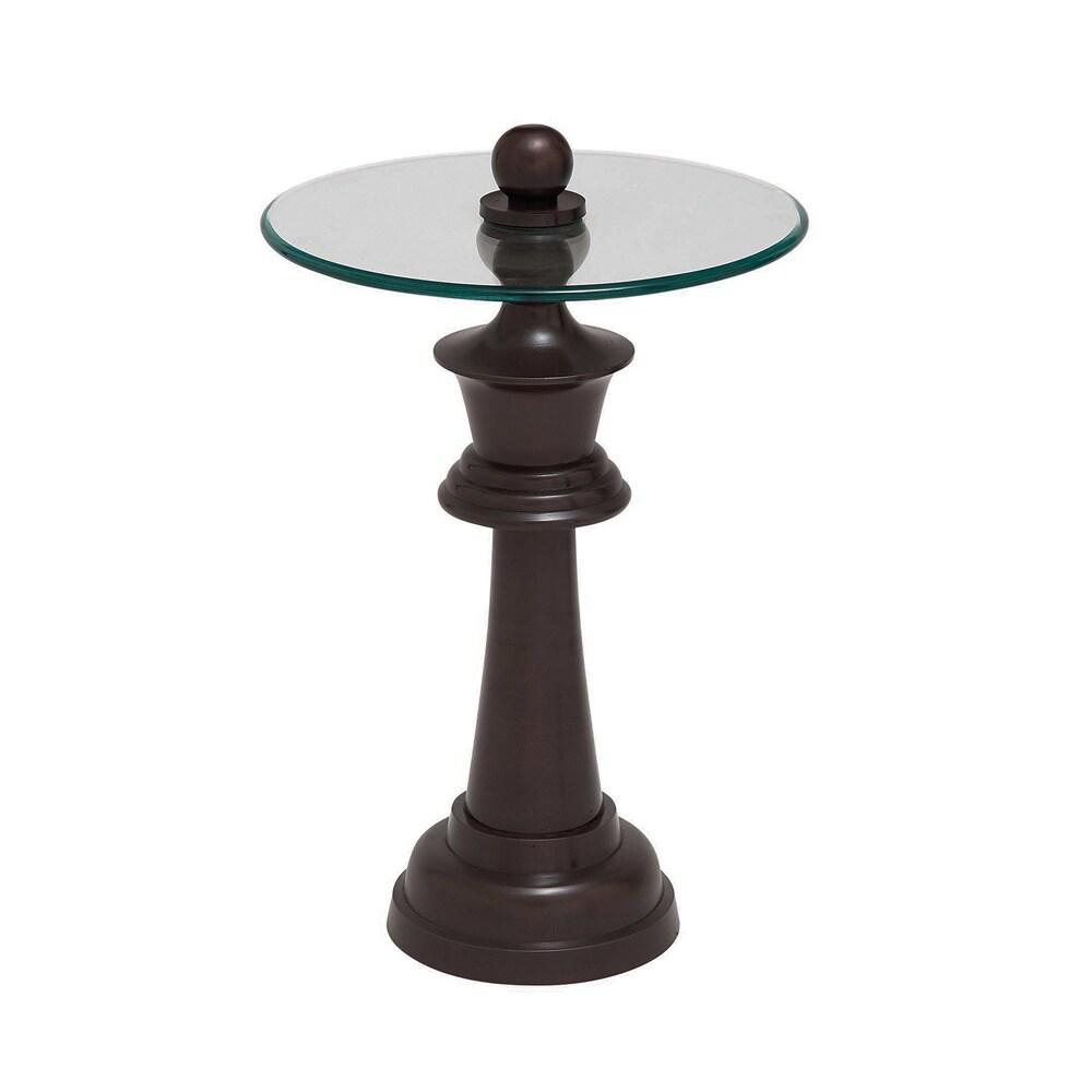 Casa Cortes Elation Round Pedestal Accent Table (Brown)